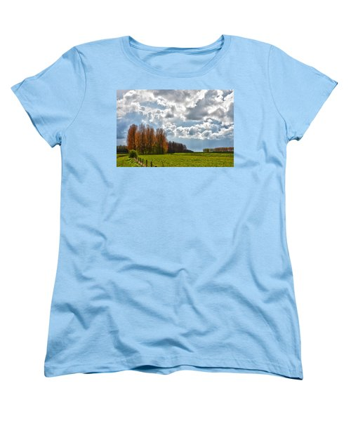 Women's T-Shirt (Standard Cut) featuring the photograph Clouds Over Voorne by Frans Blok
