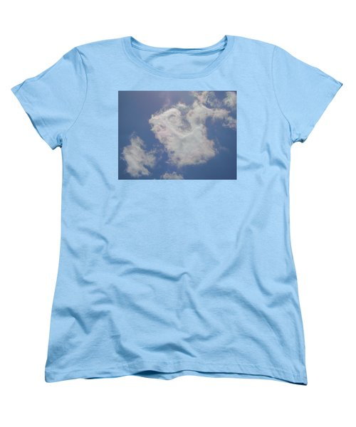 Clouds Rainbow Reflections Women's T-Shirt (Standard Cut) by Cindy Croal