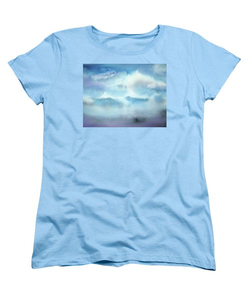 Women's T-Shirt (Standard Cut) featuring the painting Cloudscape by Ellen Levinson
