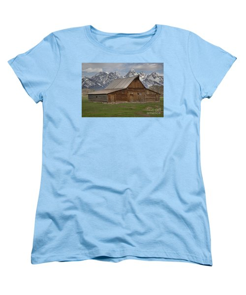 Cloudy Day At The Moulton Barn Women's T-Shirt (Standard Cut) by Adam Jewell