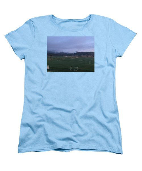 Cloudy Morning At The Field Women's T-Shirt (Standard Cut) by Christin Brodie