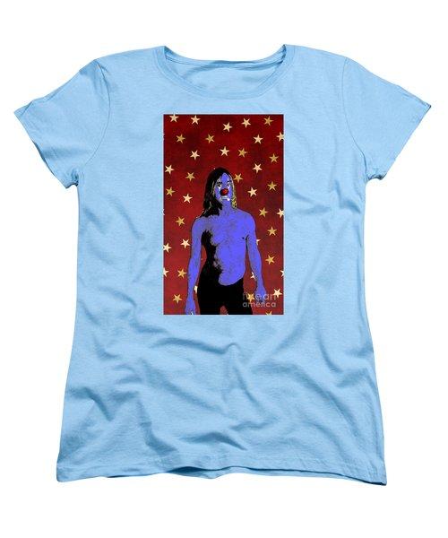 Clown Iggy Pop Women's T-Shirt (Standard Cut) by Jason Tricktop Matthews