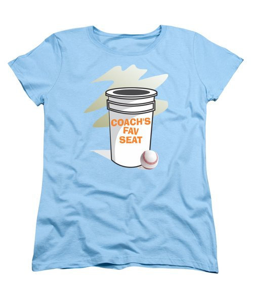 Coach's Favorite Seat Women's T-Shirt (Standard Cut) by Jerry Watkins