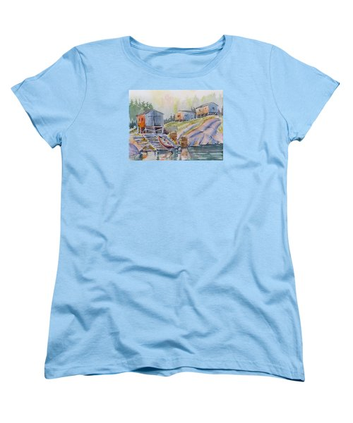 Coastal Village - Newfoundland Women's T-Shirt (Standard Cut) by David Gilmore
