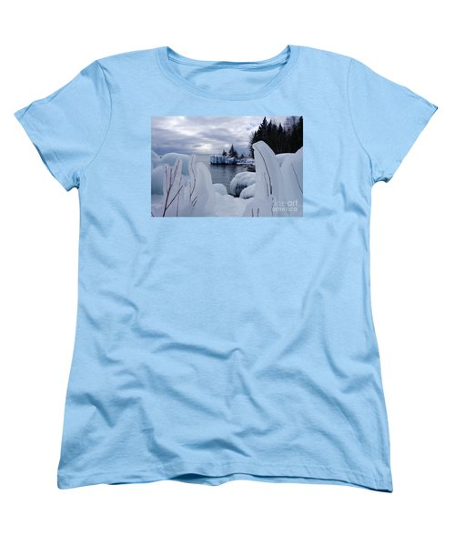 Coated With Ice Women's T-Shirt (Standard Cut) by Sandra Updyke