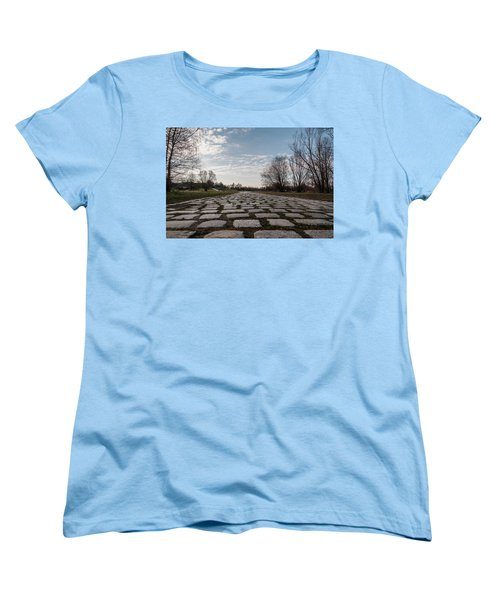 Women's T-Shirt (Standard Cut) featuring the photograph Cobble-stones by Sergey Simanovsky