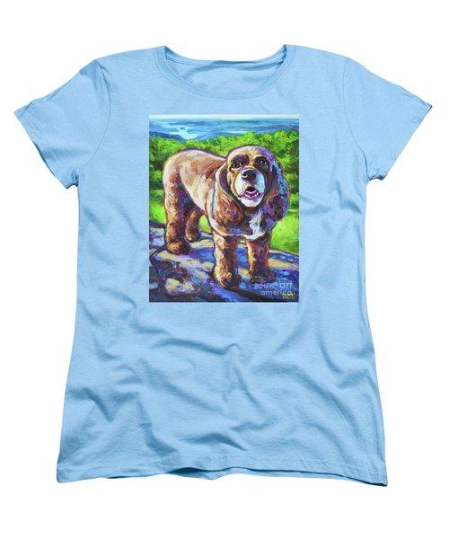 Women's T-Shirt (Standard Cut) featuring the painting Cocker Spaniel  by Robert Phelps