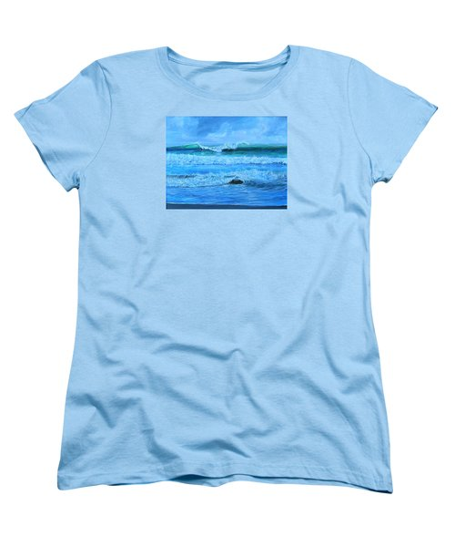 Cocoa Beach Surf Women's T-Shirt (Standard Cut) by AnnaJo Vahle