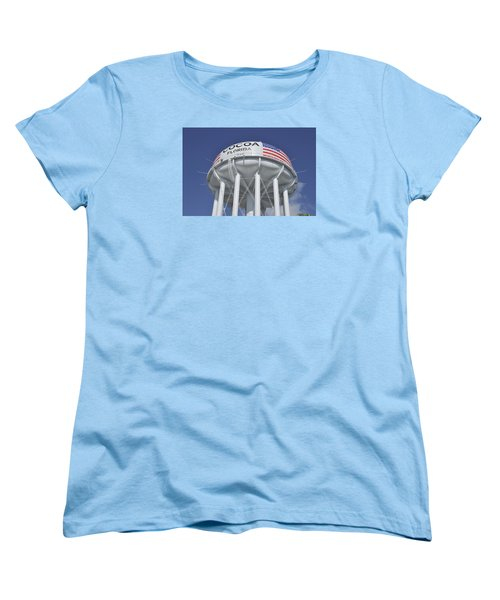 Women's T-Shirt (Standard Cut) featuring the photograph Cocoa Florida Water Tower by Bradford Martin