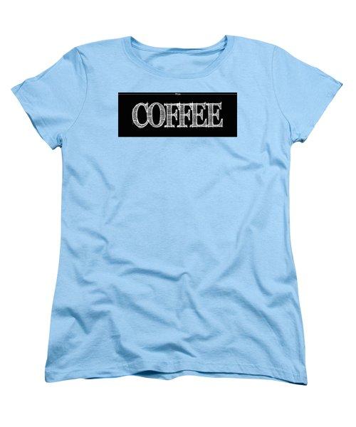 Coffee Fill Line Mug Women's T-Shirt (Standard Cut)
