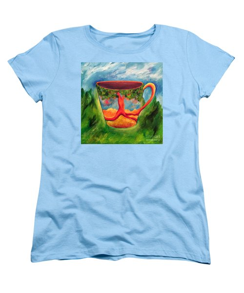 Coffee In The Park Women's T-Shirt (Standard Cut) by Elizabeth Fontaine-Barr