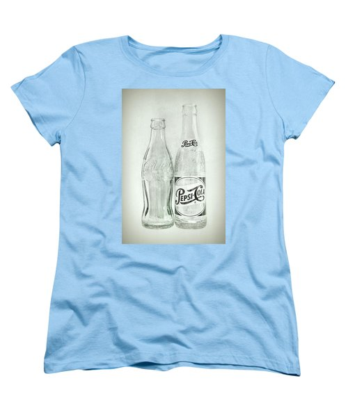 Coke Or Pepsi Black And White Women's T-Shirt (Standard Cut) by Terry DeLuco