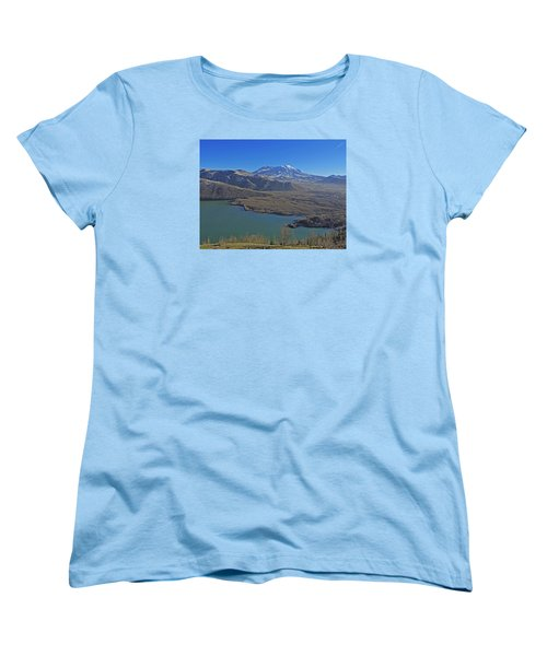 Women's T-Shirt (Standard Cut) featuring the photograph Coldwater Lake by Jack Moskovita