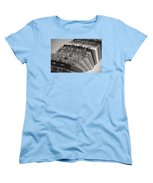 Collection Of Audio Cassettes With Domino Effect Women's T-Shirt (Standard Cut)