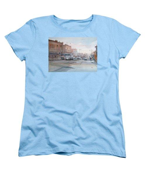 College Avenue - Appleton Women's T-Shirt (Standard Cut) by Ryan Radke
