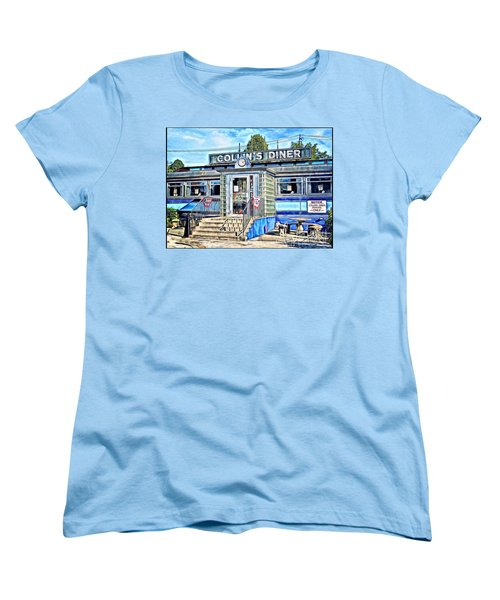 Collin's Diner New Canaan,conn Women's T-Shirt (Standard Cut) by MaryLee Parker