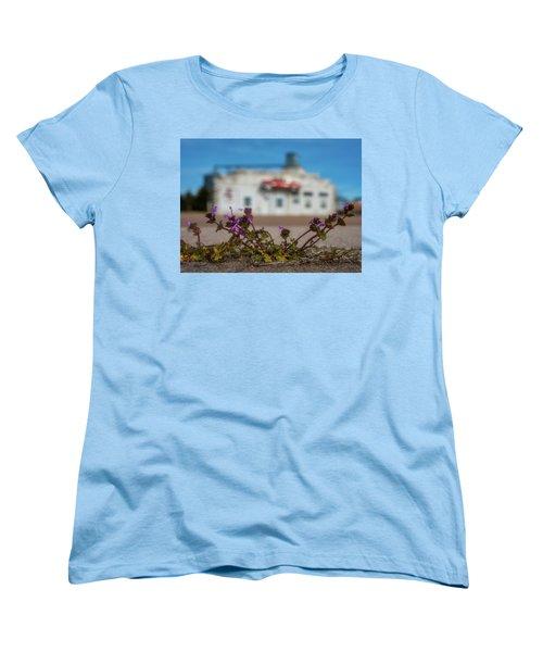 Women's T-Shirt (Standard Cut) featuring the photograph Collyer Sidewalk Blooms by Darren White