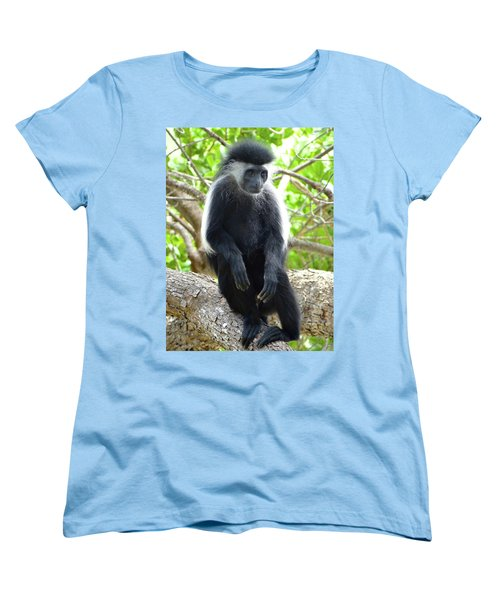 Colobus Monkey Sitting In A Tree 2 Women's T-Shirt (Standard Fit)