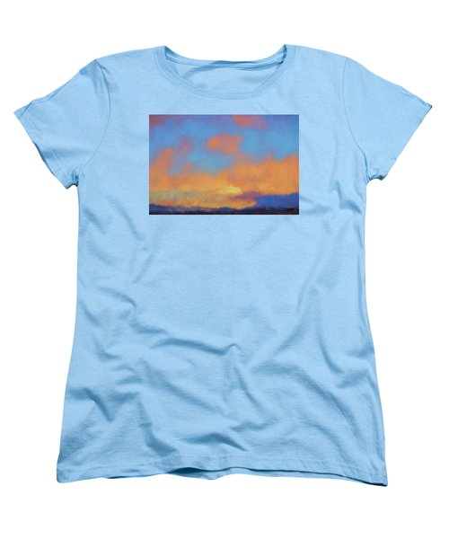 Women's T-Shirt (Standard Cut) featuring the digital art Color Abstraction Lvii by David Gordon