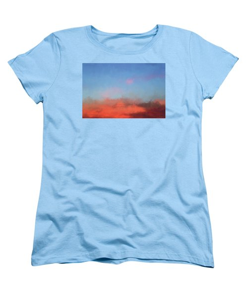 Women's T-Shirt (Standard Cut) featuring the photograph Color Abstraction Xlvii - Sunset by David Gordon