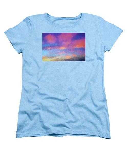 Color Abstraction Xlviii - Sunset Women's T-Shirt (Standard Cut) by Dave Gordon