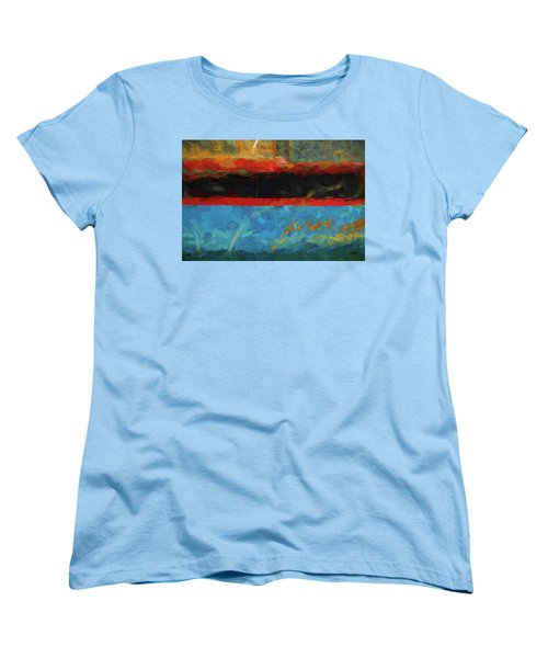 Color Abstraction Xxxix Women's T-Shirt (Standard Cut) by David Gordon