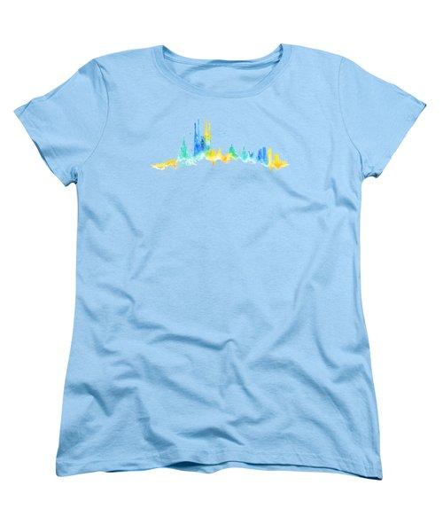 Color Barcelona Skyline 02 Women's T-Shirt (Standard Cut) by Aloke Creative Store