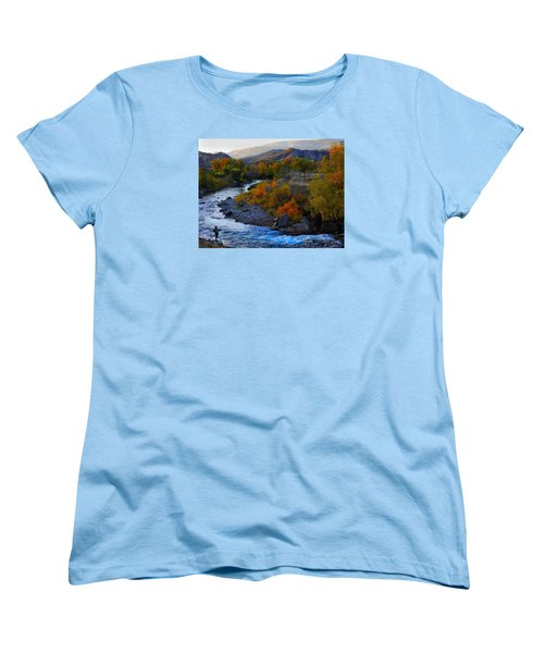 Color On The Fly Women's T-Shirt (Standard Cut) by Laura Ragland