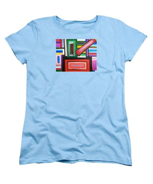 Color Squares Women's T-Shirt (Standard Cut) by Jose Rojas