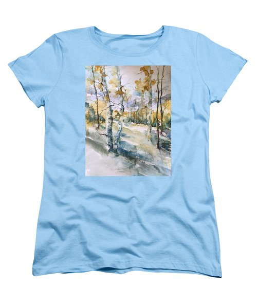 Colorado Aspens And Cottonwoods Women's T-Shirt (Standard Cut) by Robin Miller-Bookhout