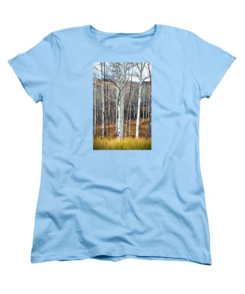 Colorado Fall Aspen Women's T-Shirt (Standard Cut) by James Steele