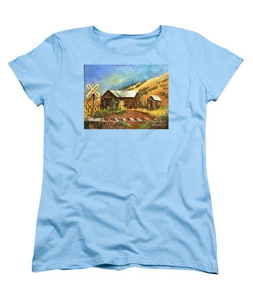 Colorado Shed Women's T-Shirt (Standard Cut) by Linda Shackelford