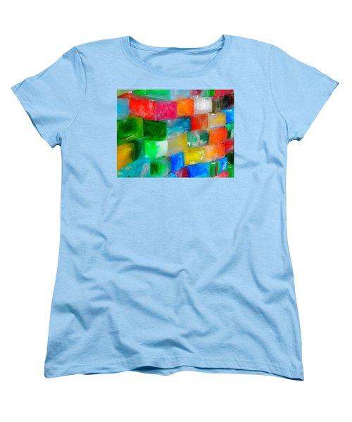Colored Ice Bricks Women's T-Shirt (Standard Cut) by Juergen Weiss