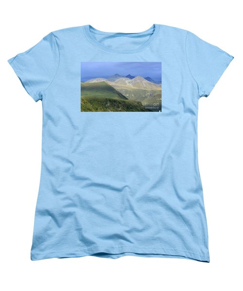 Women's T-Shirt (Standard Cut) featuring the photograph Colored Peaks Of The Caucasus by Arik Baltinester