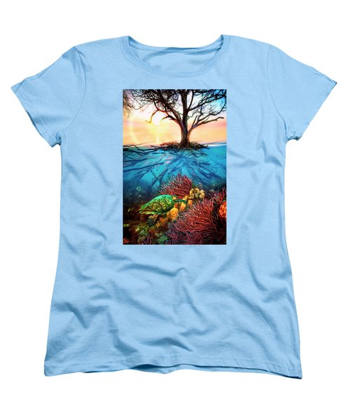 Women's T-Shirt (Standard Cut) featuring the photograph Colorful Coral Seas by Debra and Dave Vanderlaan