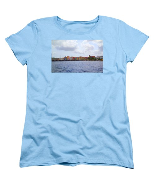 Women's T-Shirt (Standard Cut) featuring the photograph Colorful Curacao by Lois Lepisto