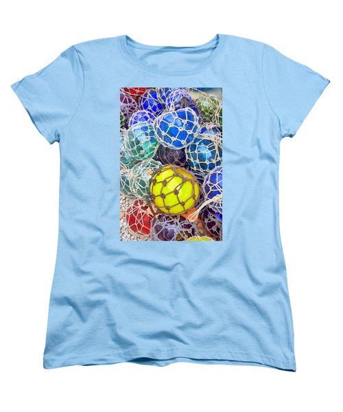 Colorful Glass Balls Women's T-Shirt (Standard Cut) by Carla Parris