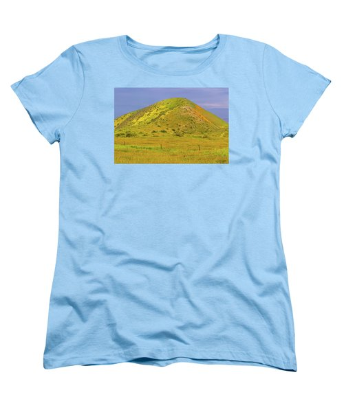 Women's T-Shirt (Standard Cut) featuring the photograph Colorful Hill by Marc Crumpler