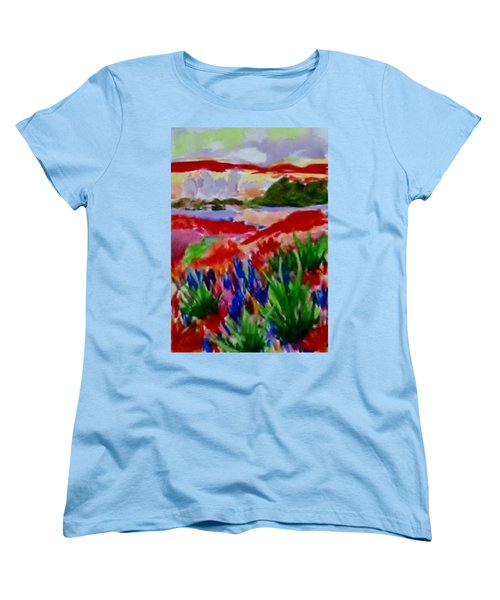 Women's T-Shirt (Standard Cut) featuring the painting Colorful by Jamie Frier