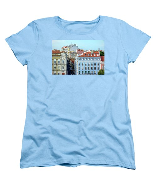 Women's T-Shirt (Standard Cut) featuring the photograph Colorful Lisbon by Marion McCristall