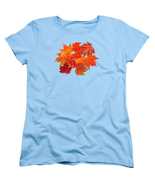 Colorful Maple Leaves Women's T-Shirt (Standard Cut) by Christina Rollo