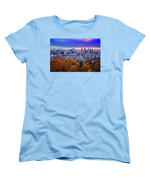 Women's T-Shirt (Standard Cut) featuring the photograph Colorful Montreal  by Mircea Costina Photography