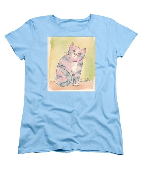 Women's T-Shirt (Standard Cut) featuring the painting Colorful Tabby by Terry Taylor