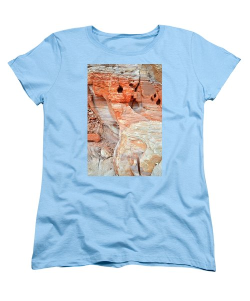 Women's T-Shirt (Standard Cut) featuring the photograph Colorful Wall Of Sandstone In Valley Of Fire by Ray Mathis