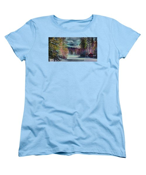 Women's T-Shirt (Standard Cut) featuring the photograph Colorful Winter Wonderland by David Patterson