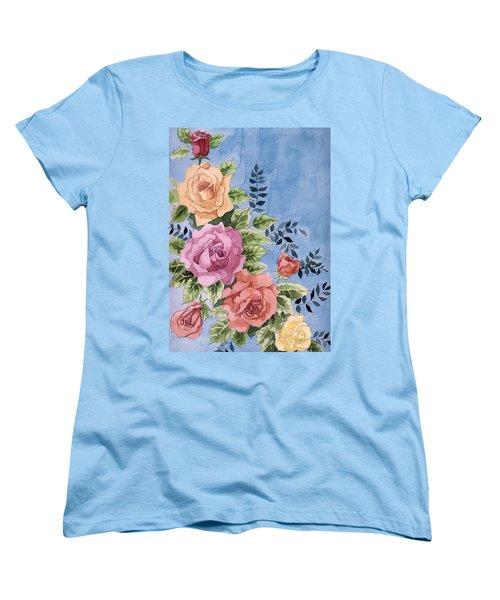 Colorfull Roses Women's T-Shirt (Standard Cut) by Alban Dizdari