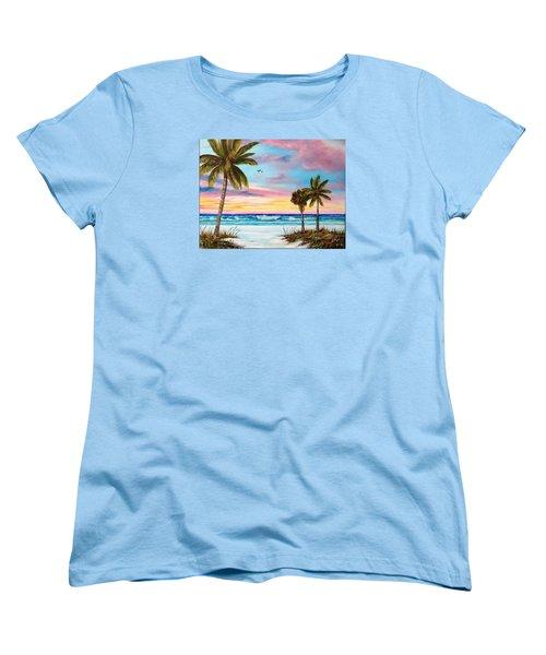 Colors Of Siesta Key Women's T-Shirt (Standard Cut) by Lloyd Dobson