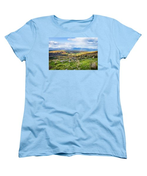 Women's T-Shirt (Standard Cut) featuring the photograph Colourful Undulating Irish Landscape In Kerry  by Semmick Photo