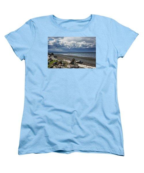 Columbia Beach Women's T-Shirt (Standard Cut) by Randy Hall