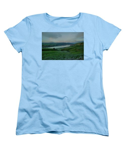 Women's T-Shirt (Standard Cut) featuring the photograph Columbia Gorge In Early Spring by Jeff Swan